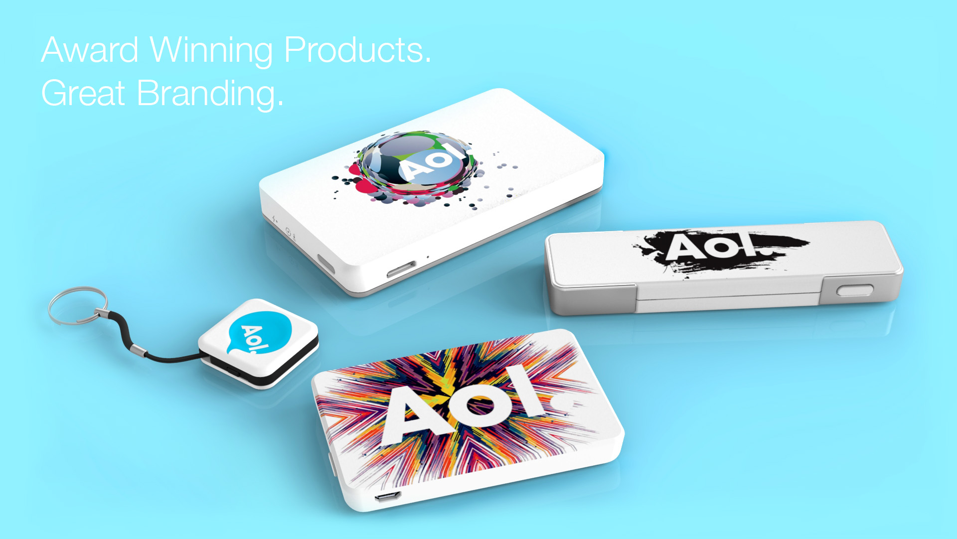 PowerStick products with corporate branding