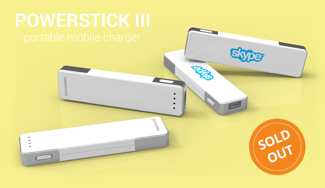PowerStick III portable smartphone charger powerbank