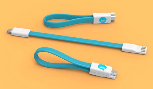 Loop charging cable