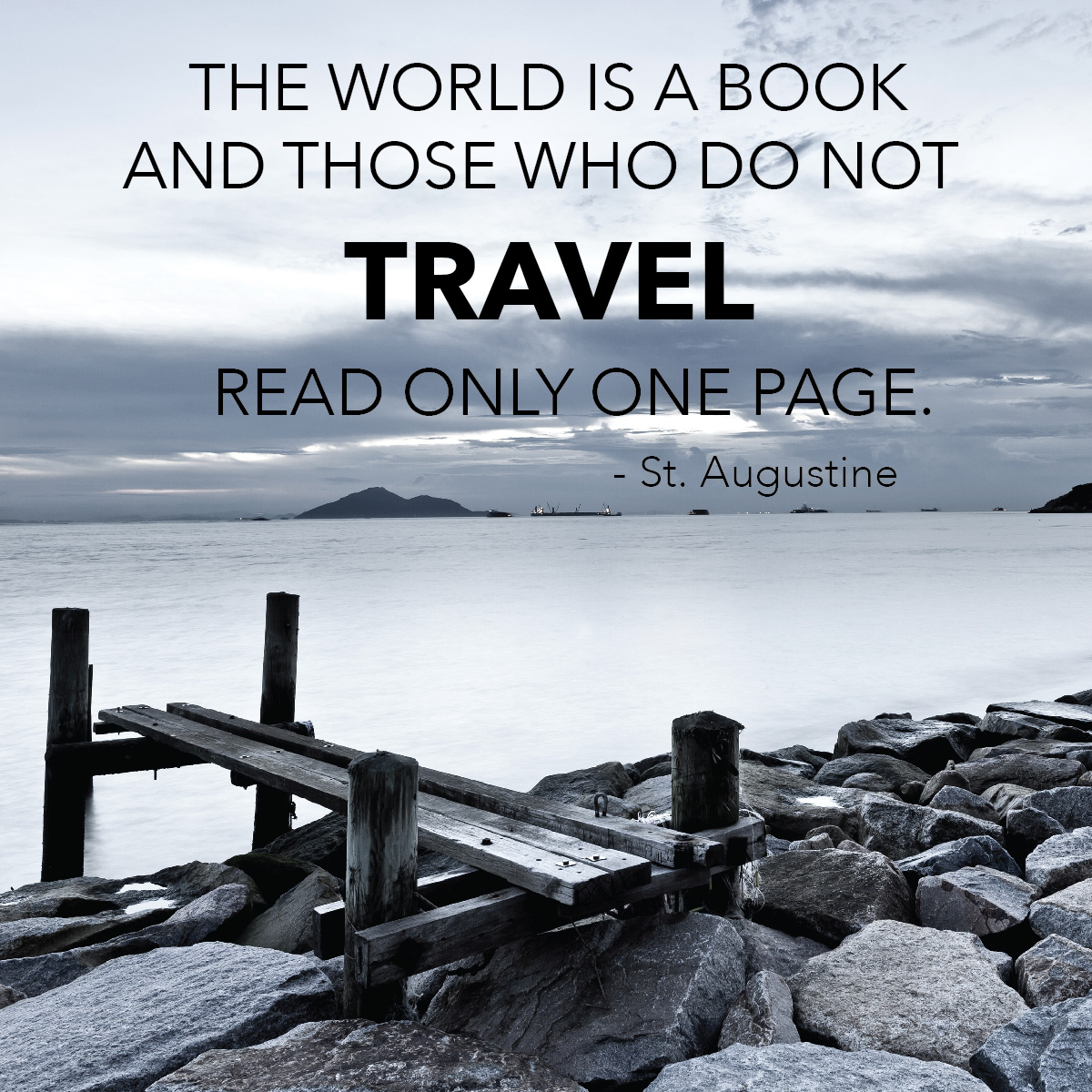 Travel Quote: the world is a book
