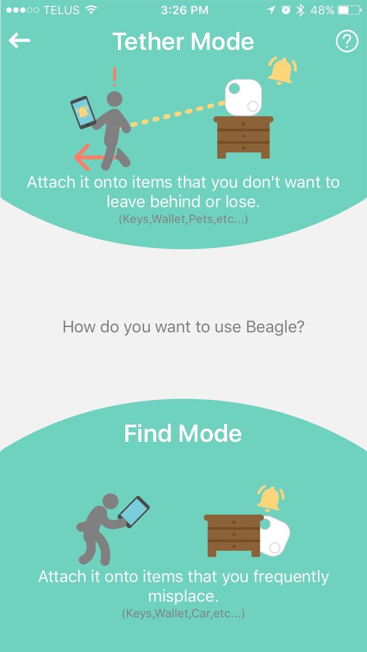 Beagle App Choose Mode