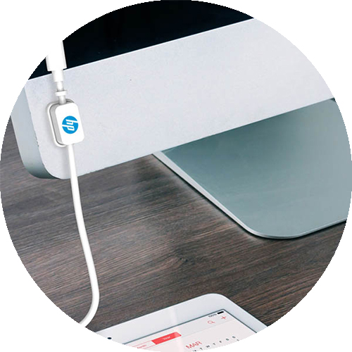 CableDock attached to a monitor