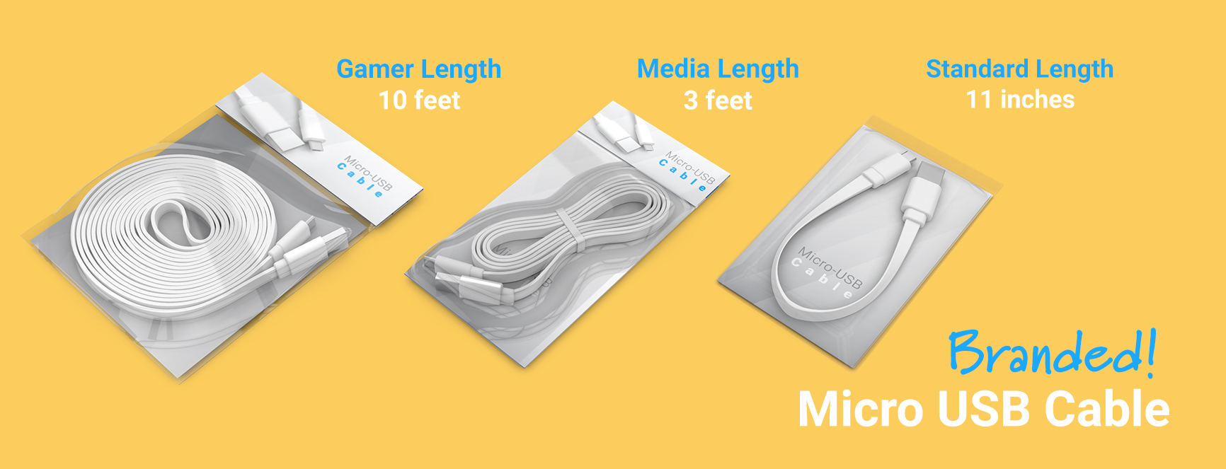 Branded cable length options