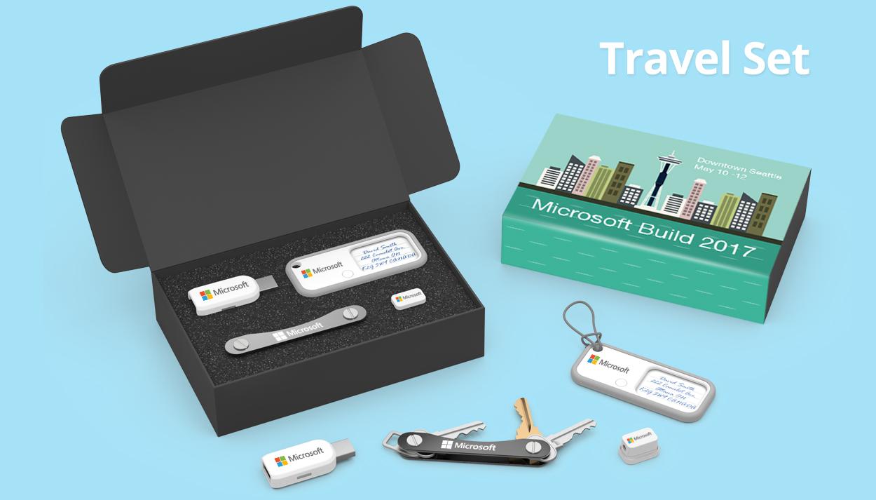 Travel Set branded packaging