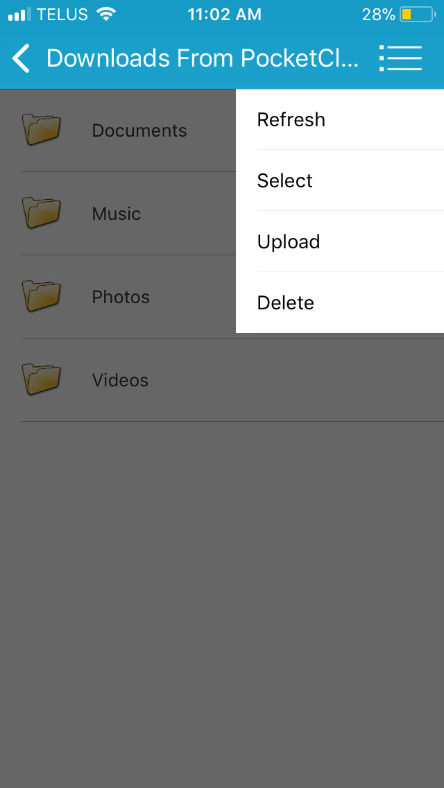 Browse Phone menu