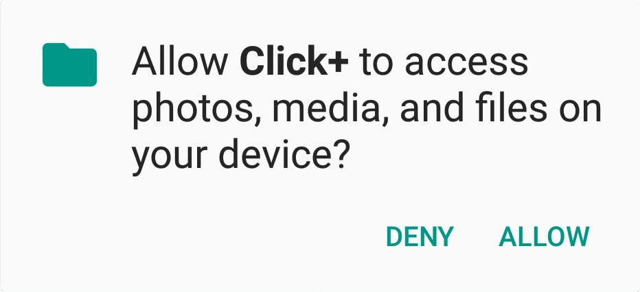 Click+ Notification Request