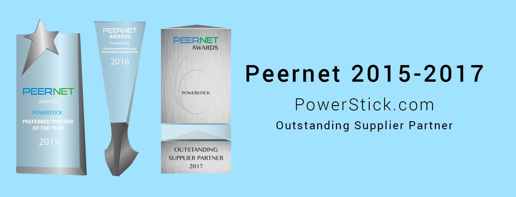 Peernet Outstanding Supplier Award 2015-2017