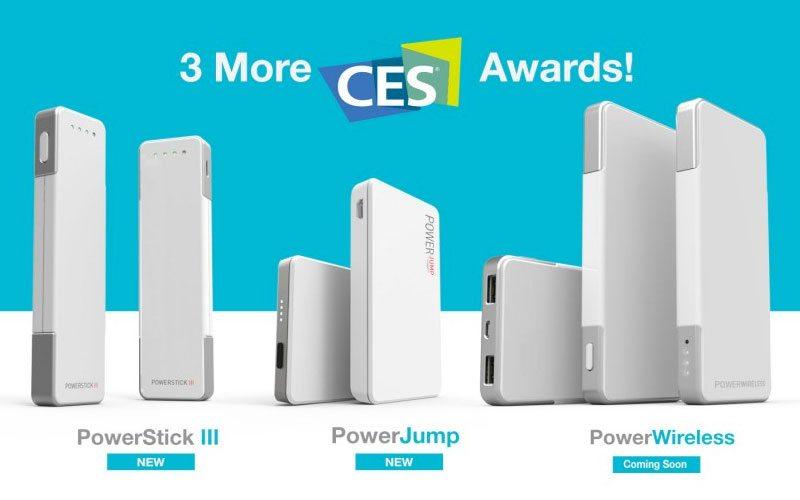3 New CES Awards for PowerStick III, PowerJump, PowerWireless
