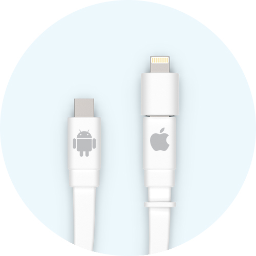 Apple & Android Compatible