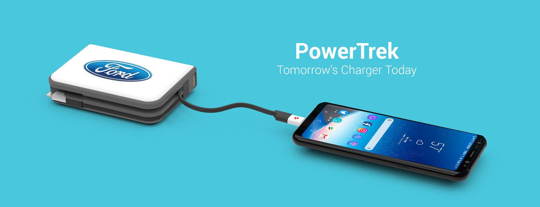 PowerTrek charging an iPhone