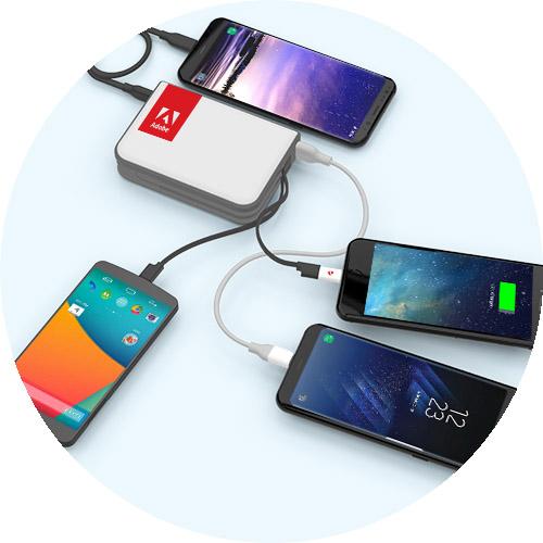 PowerTrek charging 4 devices