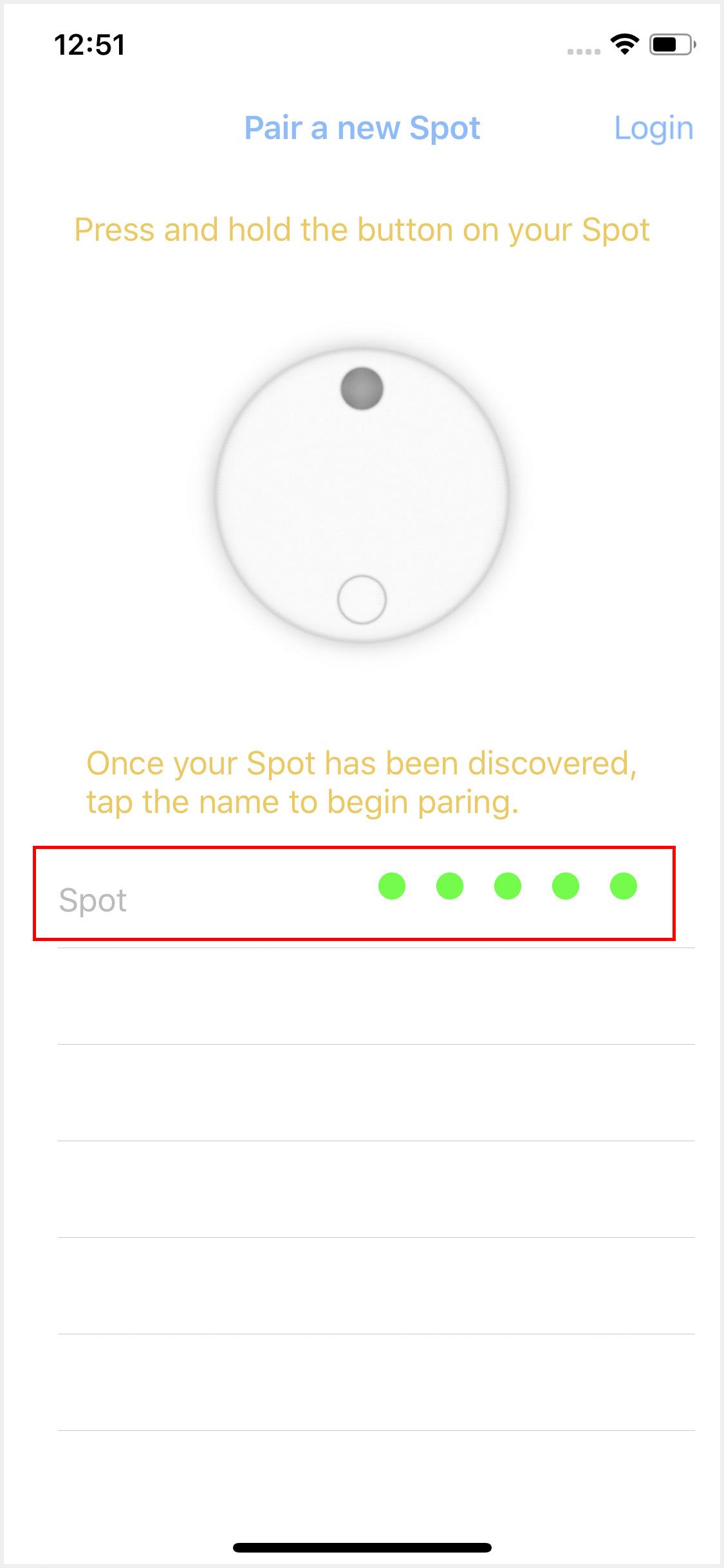 Modes App Screen