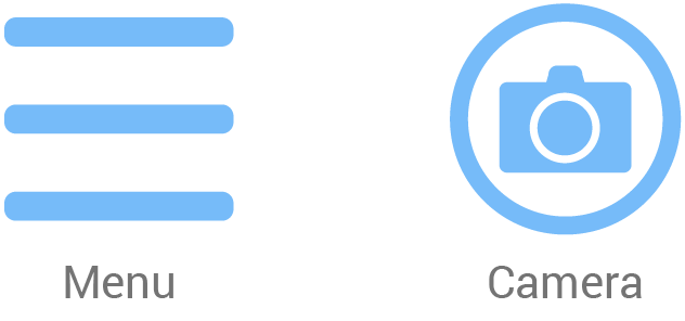 Menu and Camera icons
